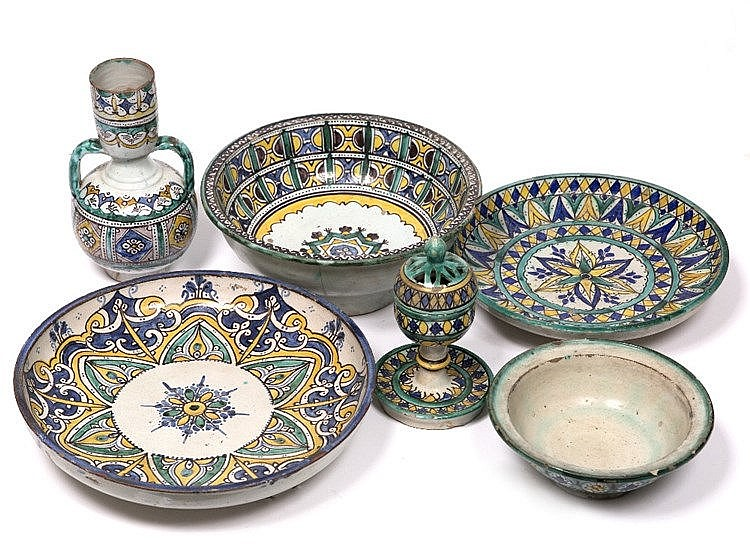 A collection of Moroccan ceramics