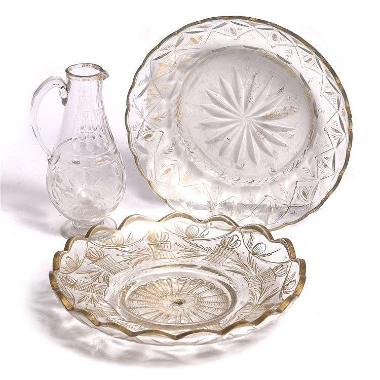 A Turkish bakoz glass jug