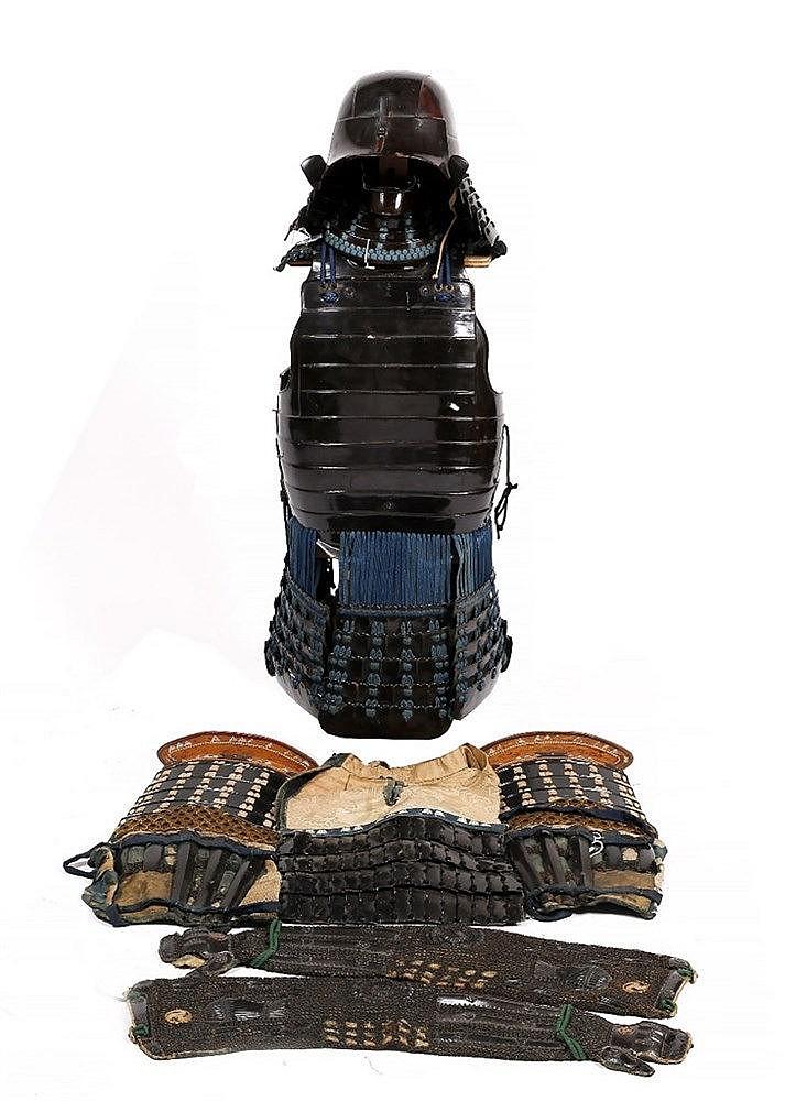 A Japanese Nimado Gusoku (two piece cuirass armour)