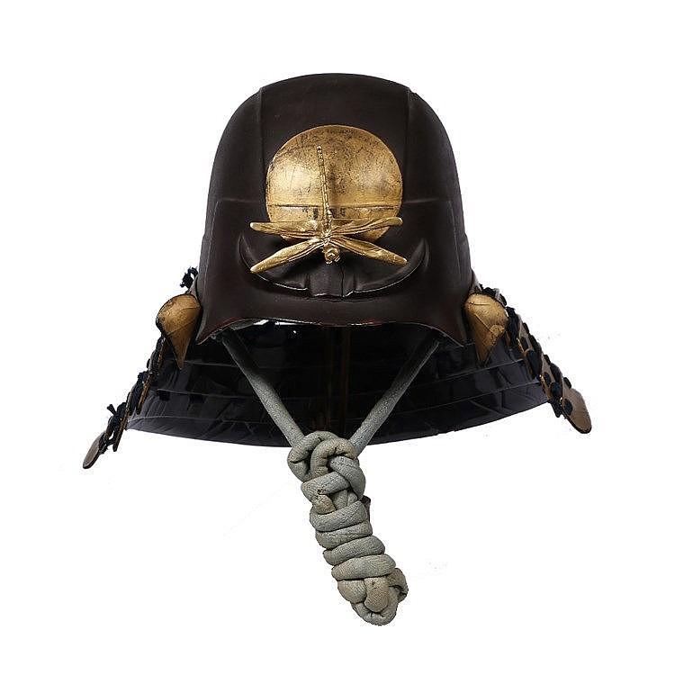 A Japanese Zu-Nari Kabuto (Helmet)