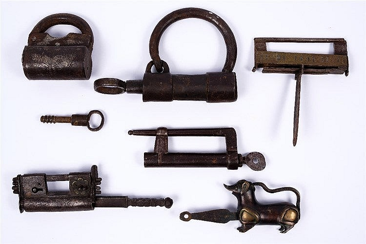 A group of Turkish Afghan and Iranian locks