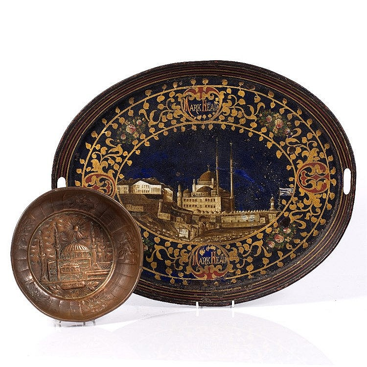 An Ottoman painted tray