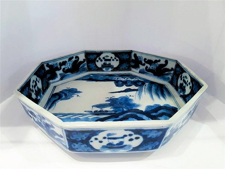 A Hirado blue and white dish