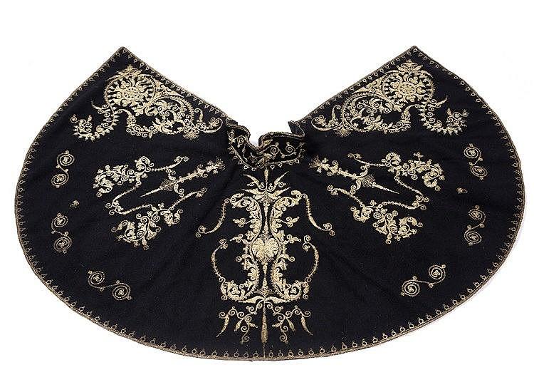 A Turkish black felt cape
