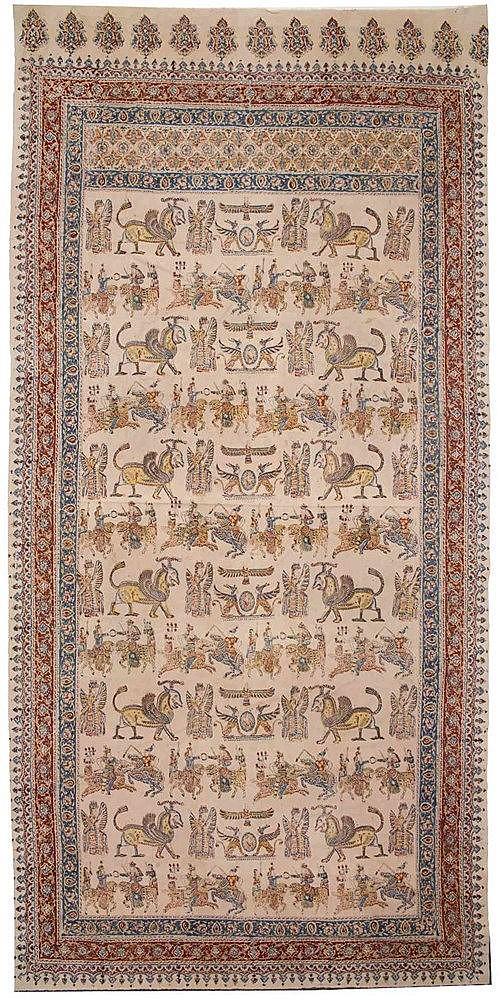 A Persian textile panel