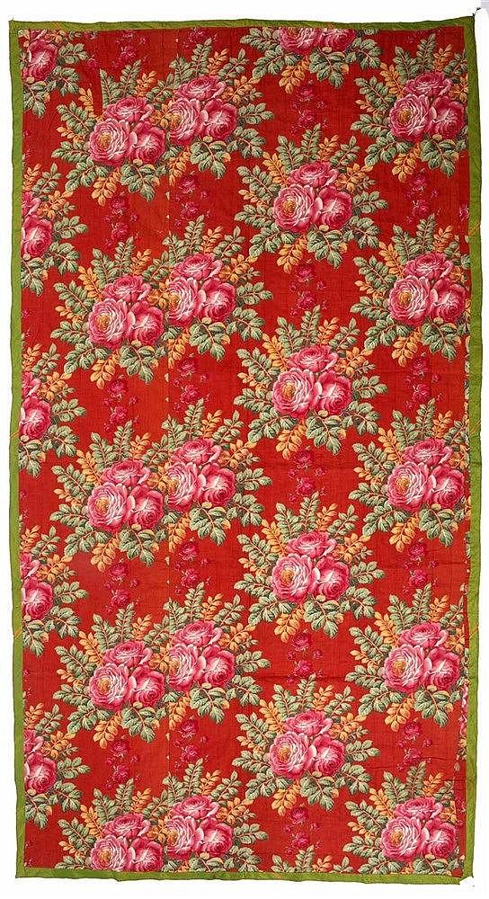 An Uzbekistan Ikat fabric panel