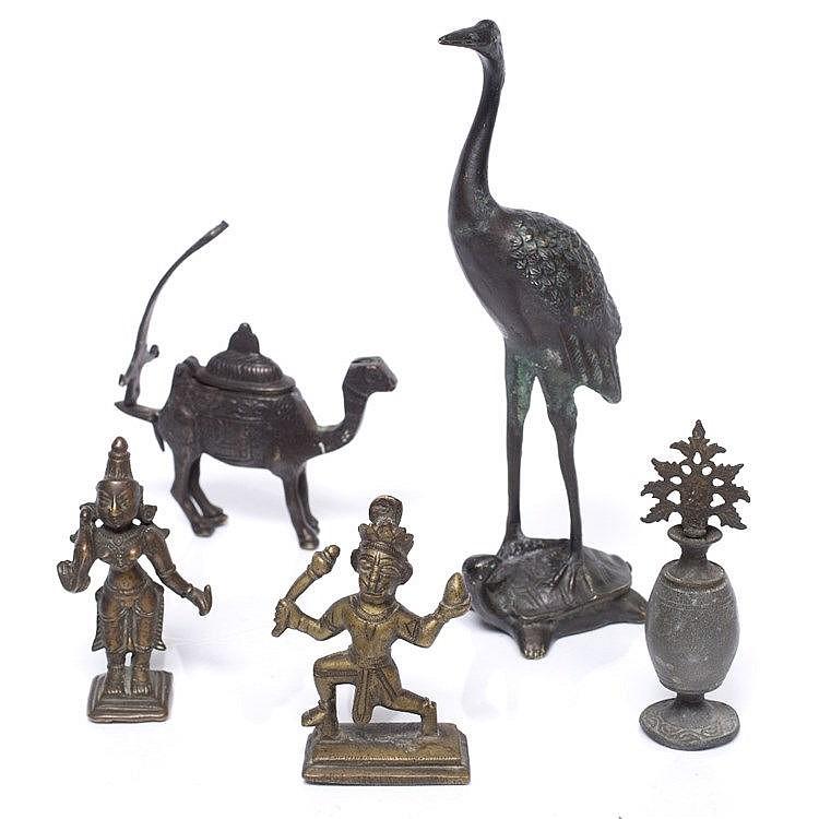 Two Indian bronze deities