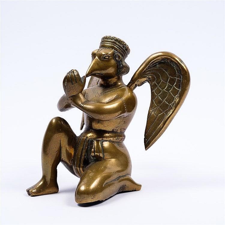 An Indo Persian bronze figure
