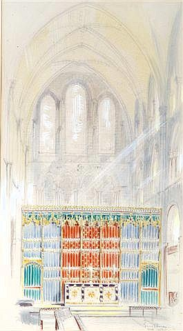 SIR BASIL SPENCE (1907-1976) A design for a screen