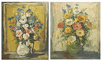Julien Creytens (1897-1972) Still life - A jug of