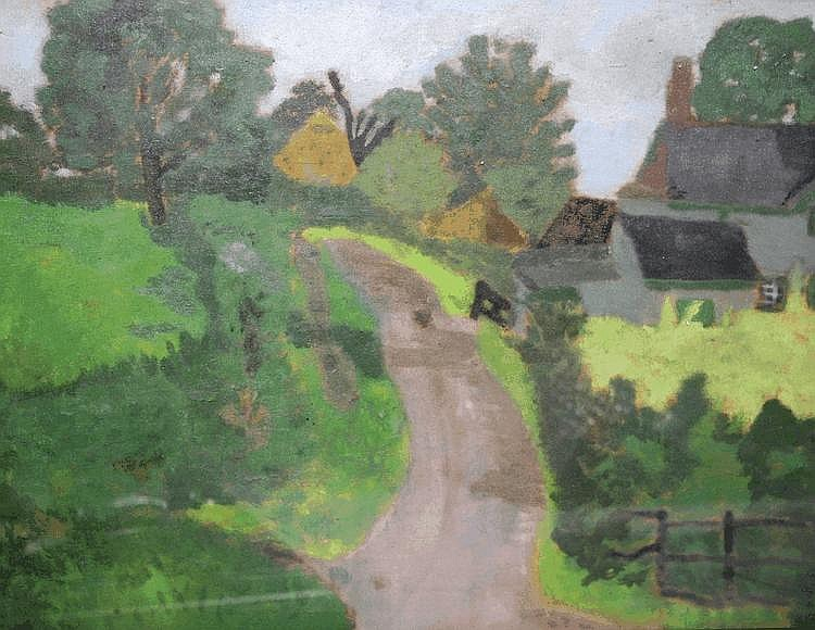 Pamela M. Spencer (1924-2012) The country lane,