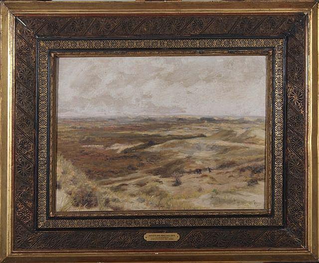 FRANCIS TATTEGRAIN (1852-1915) Figures on sand