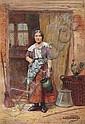 JOHN HARDWICKE LEWIS (1840-1927) 'I Wonder What, John Hardwicke Lewis, Click for value