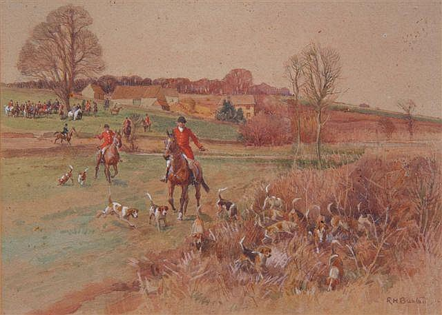 ROBERT HUGH BUXTON (b 1871) - The Hunt, signed