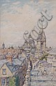 BERNARD CECIL GOTCH (1876-1964) Roof top view, Bernard Cecil Gotch, Click for value