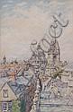 BERNARD CECIL GOTCH (1876-1964) Roof top view, Bernard Cecil Gotch, Click for value
