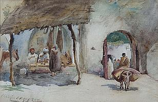 CHRISTINA PATERSON ROSS (1843-1906) Arab scene in