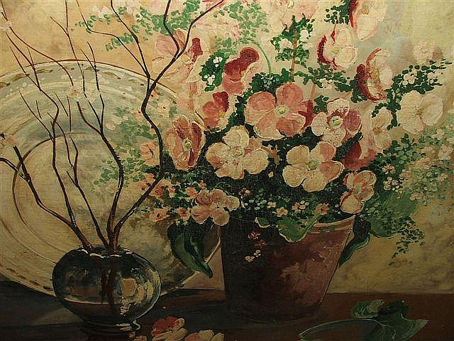 LESLIE COLE (1910-1976) Still life with spring