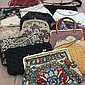 A GROUP OF VARIOUS LADIES EVENING BAGS with woven
