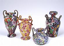 Venetian Millefiori two handled vase 19th Century