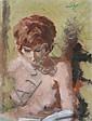 ERIC PEET (1909-1968) - Portrait of a nude -
