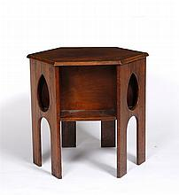 An Arts & Crafts oak occasional table