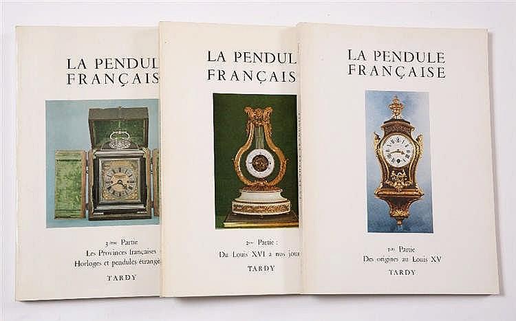 LA PENDULE FRANCAISE, 3 volume set: 1 Des origines au Louis XV, 2 Du Louis