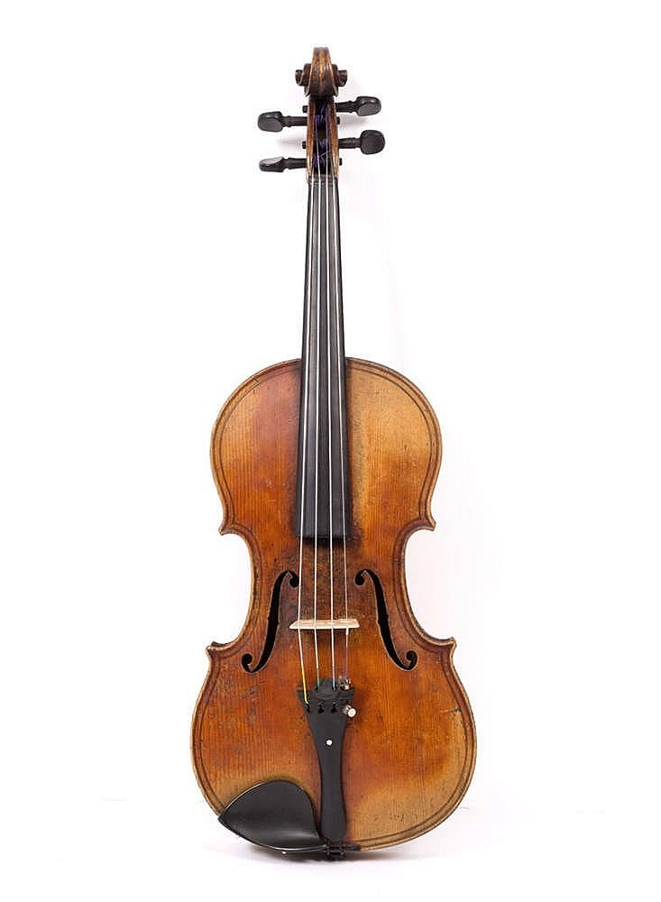 A VIOLIN with single piece back and bearing printed label inscribed 'Giovan