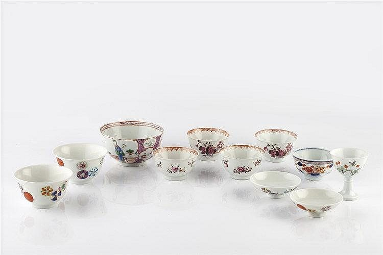 Chinese famille rose export small bowl circa 1800 11cm, a pair of Chin