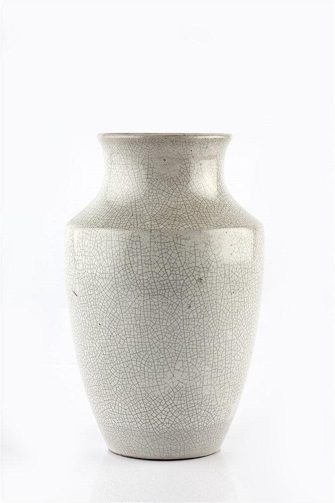 A Chinese Guan style baluster vase 19th Century decorated with a grey