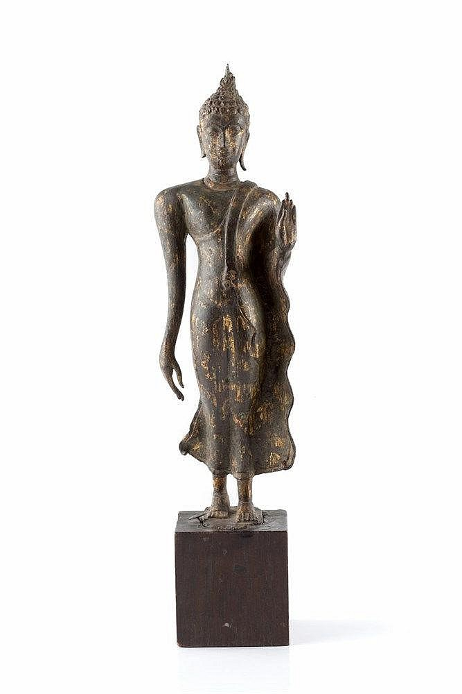 A Sri Lankan Tara figure 19th Century the standing gilt bronze deity h