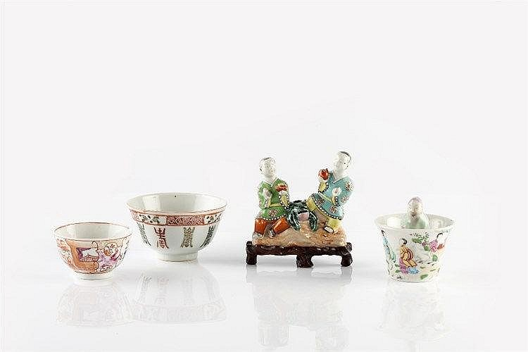A Chinese famille rose decorated porcelain water dropper 19th Century