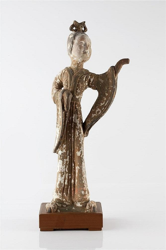 A Chinese model of Guanyin Tang dynasty the figure with arm outst