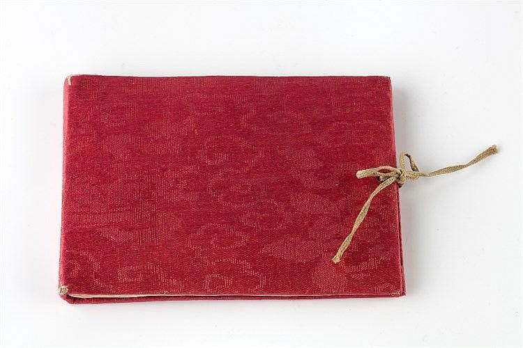 A small Chinese rice paper album 19th Century with eleven studies of c