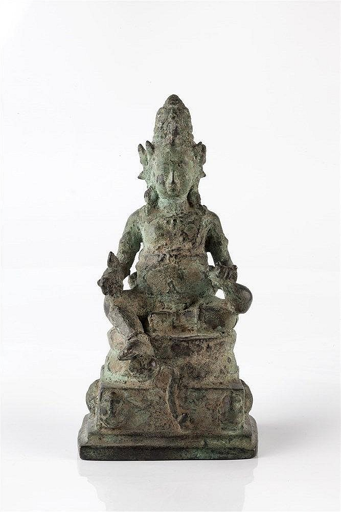 A Javanese bronze figure of Jambhala or Kubera 9th/10th Century seated