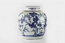 A Chinese porcelain blue and white ginger jar and cover 19th Century b