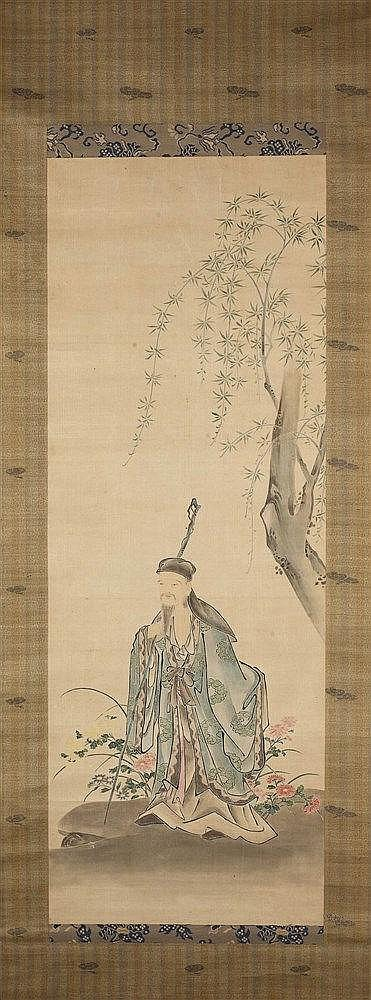 A collection of six Chinese scrolls to include landscape and other sce