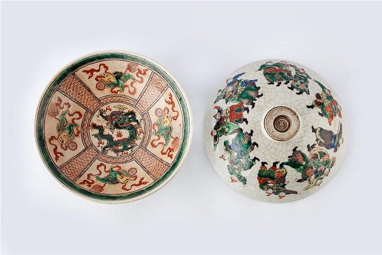 A pair of Canton porcelain wide-mouthed shallow bowls late Guangxu