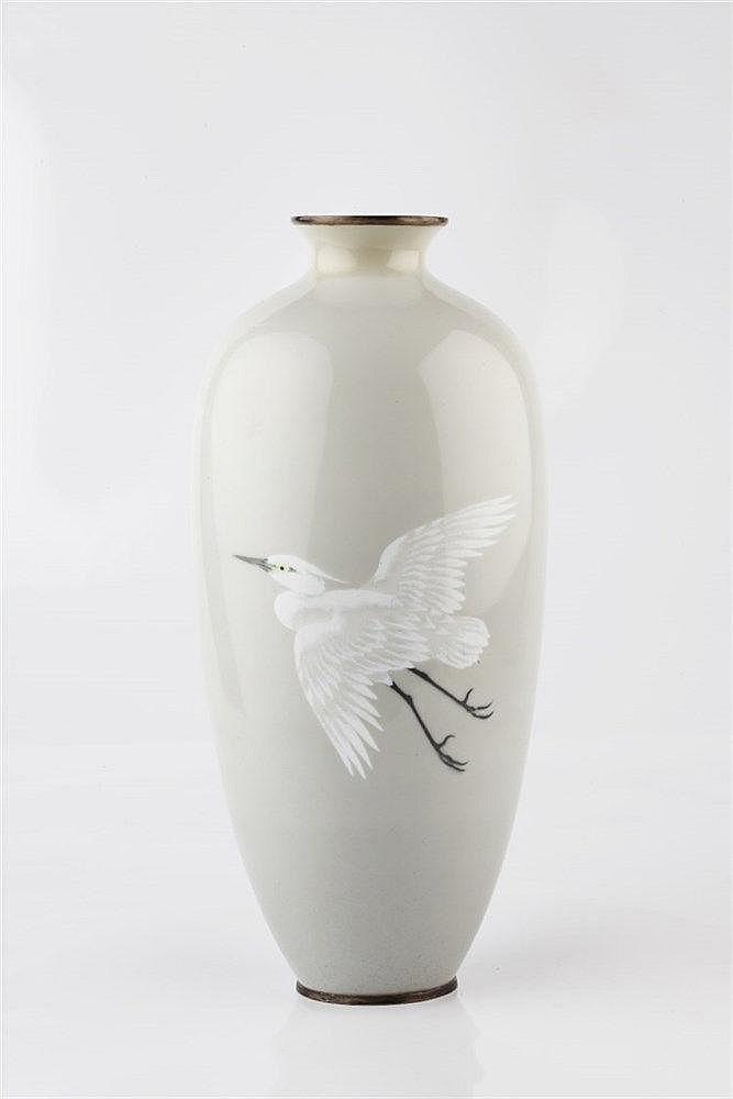 A Japanese cloisonne enamel vase in the Namikawa Sosuke style Meiji pe