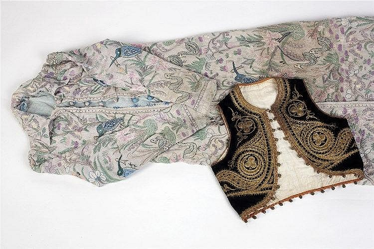 A childs Ottoman waistcoat late 19th Century with gold metal thre