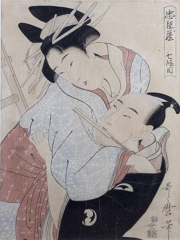 After Kitagawa Utamaro (Japanese, 1753-1799) Shichidanme from the seri