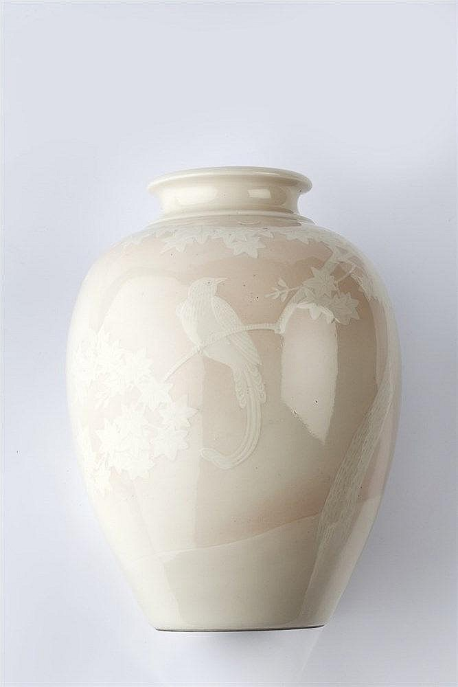 A Japanese porcelain vase late Meiji period signed, Seido, of ovo