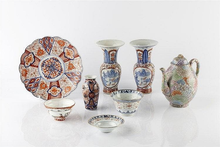 A group of Japanese porcelain 19th/20th Century including an Imari pla