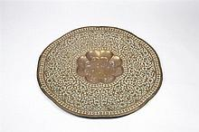 A collection of seven Indian and Middle-Eastern trays 19th century eac