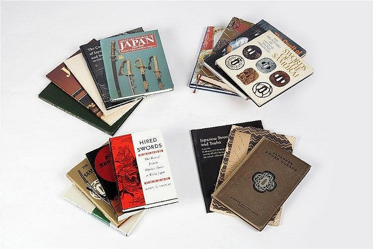 A collection of reference books relating to Japanese swords and Tsuba