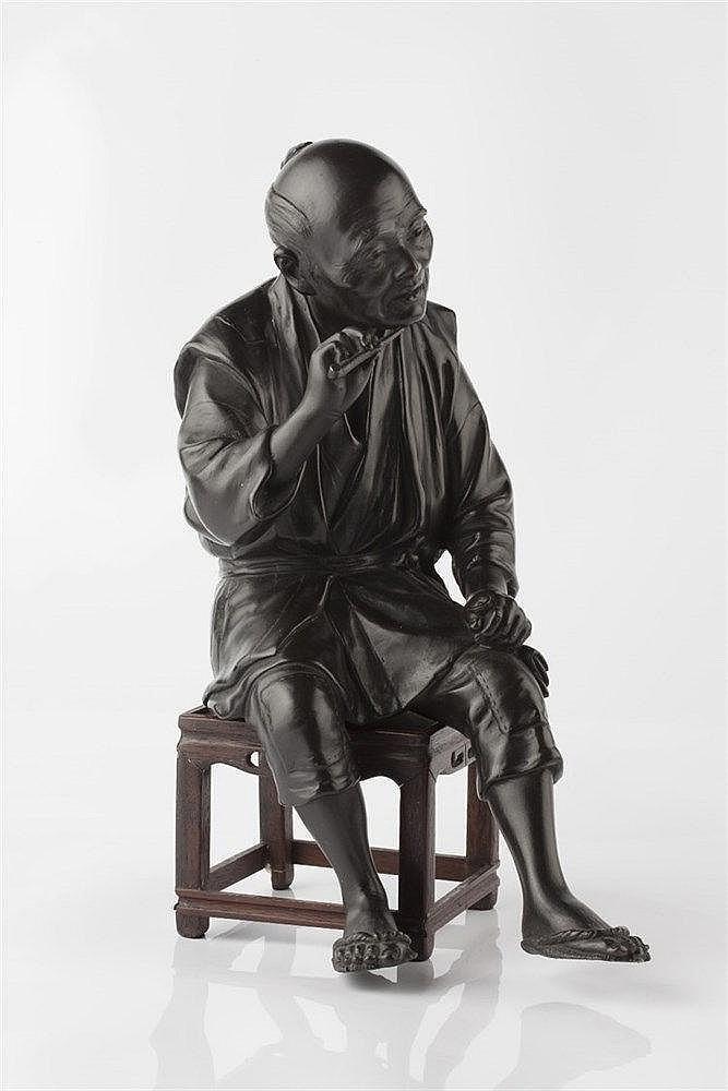 A Tokyo School bronze okimono Meiji period signed Masatsune, in t