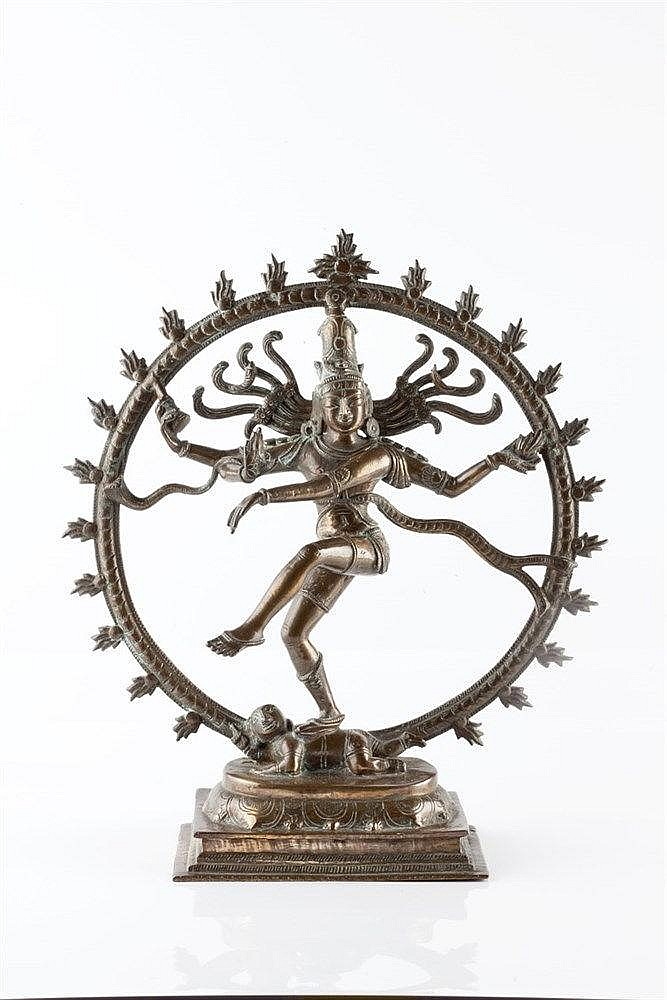 An Indian bronze model of Shiva early 20th Century 33cm high