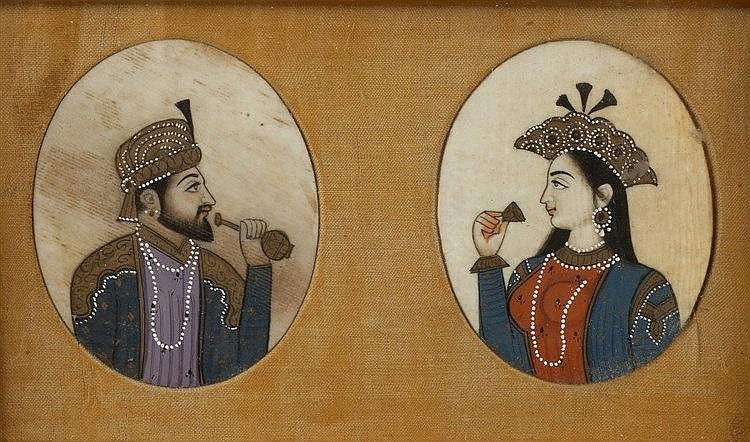 Two Indian folio studies after 17th/18th Century orginals and two