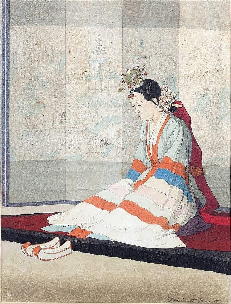 Elizabeth Keith (British, 1887-1956) The Korean Bride, circa 1938, sig