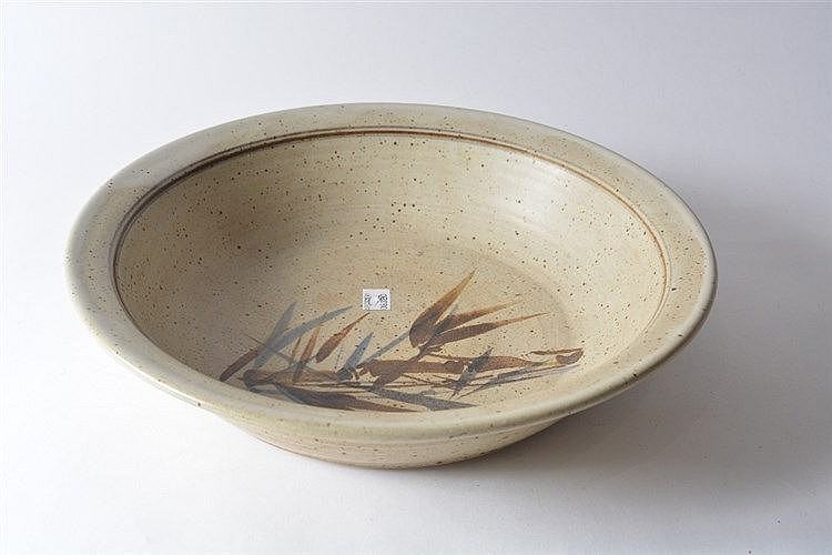 A Noboru kubo (Canadian/Japanese, 20th Century) Studio pottery bowl wi